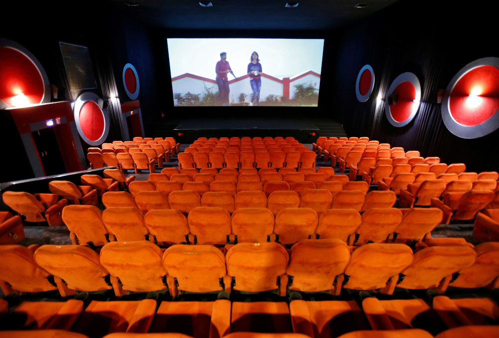 Empty chairs are seen during a movie time at City Gold cinema after its reopening, amidst the outbreak of the coronavirus disease (Covid-19), in Ahmedabad October 15, 2020. — Reuters pic