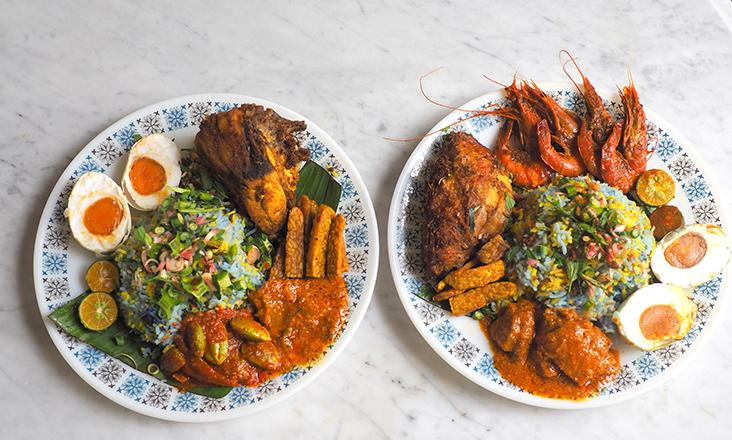 Feast on a fully loaded 'nasi ulam' Nyonya served with ultra satisfying 'lauk' such as 'ayam goreng berempah', 'tempe goreng', 'sambal petai' or 'udang masak merah' — Pictures by Lee Khang Yi