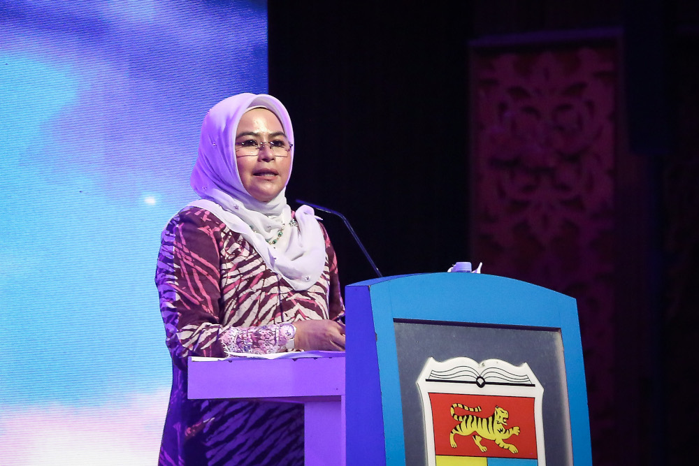 Higher Education Minister Datuk Noraini Ahmad said the higher education sector, worth over RM35 billion to the country's economy, was among the sectors affected during the Covid-19 pandemic period. ― Picture by Yusof Mat Isa