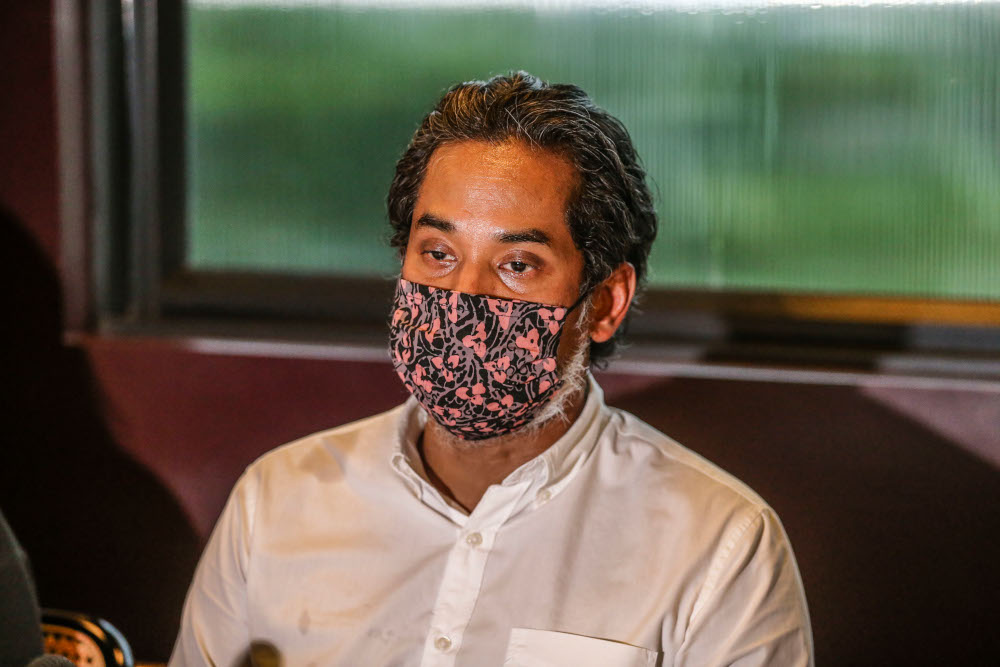 Minister of Science, Technology, and Innovation Khairy Jamaluddin said priority should be given to curbing the spread of Covid-19 and preventing the situation from worsening.. — Picture by Firdaus Latif