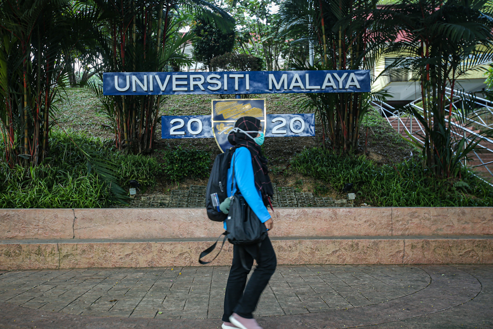 A general view of Universiti Malaya after the government announced the Movement Control Order, March 17, 2020. — Picture by Hari Anggara