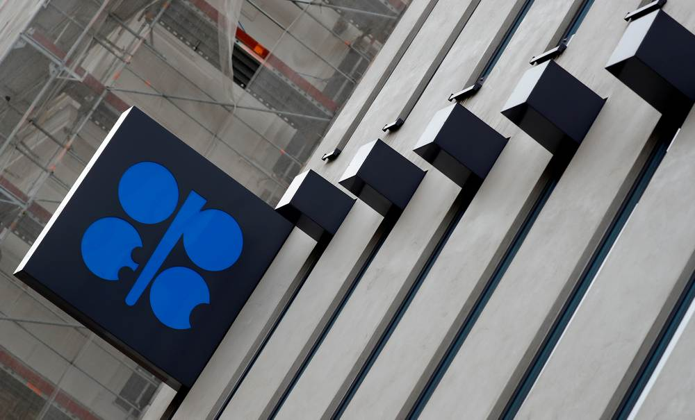 The logo of the Organisation of the Petroleum Exporting Countries (Opec) is seen outside their headquarters in Vienna December 7, 2018. — Reuters pic