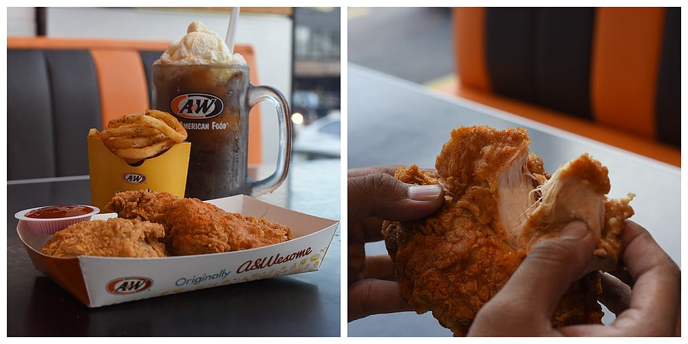 The A&W Aromatic Chicken is best to have with their famous Root Beer Float. — Picture by Arif Zikri