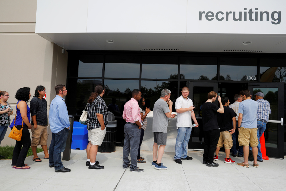 Though the pickup in job growth shown in the Labour Department's closely watched employment report yesterday missed economists' forecasts, it gave assurance that the recovery from the pandemic recession remained on track. — Reuters pic
