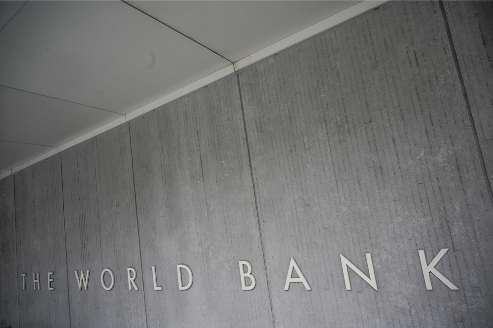 The World Bank Group logo is seen on the building of the Washington-based global development lender in Washington on January 17, 2019. — AFP pic
