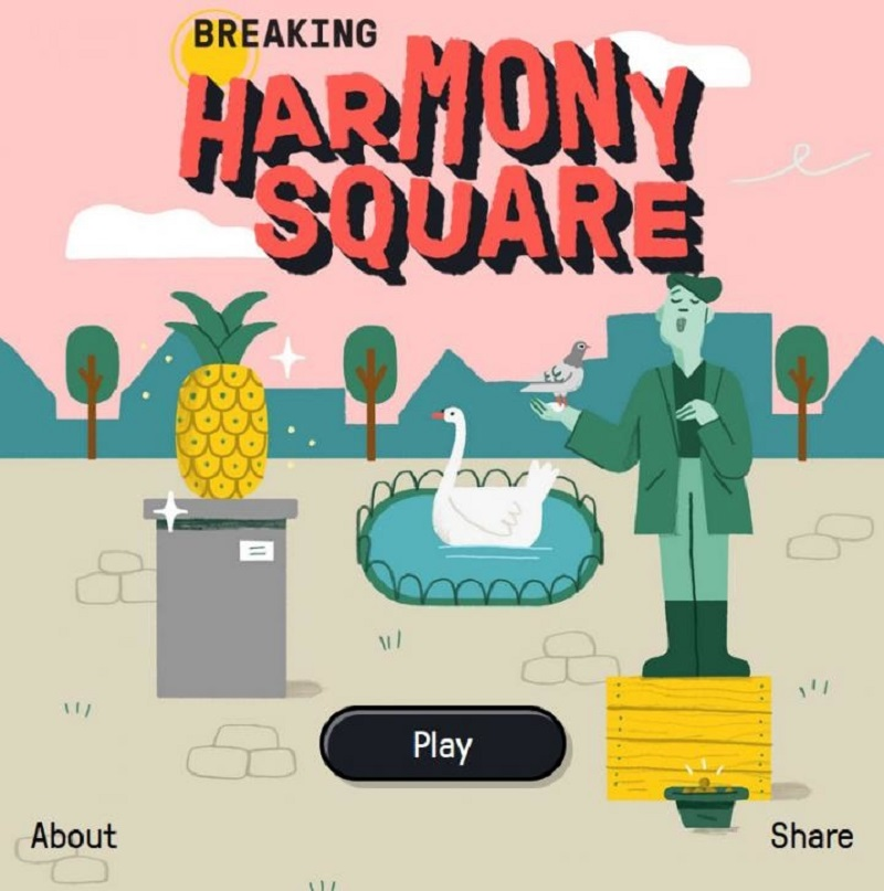 'Harmony Square' is an online game developed by researchers at the University of Cambridge sees players step into the role as 'Chief Disinformation Officer' to sabotage elections in a peaceful town. ― Picture courtesy of Gusmanson via AFP