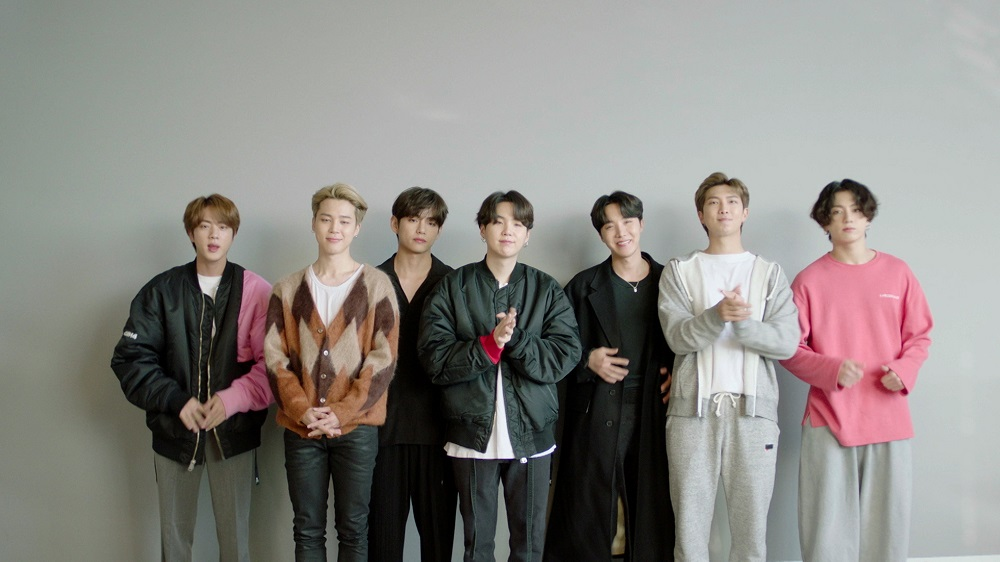 BTS accept the win for Best Group at the MTV EMA's 2020, in Los Angeles, California in this screengrab image released on November 8, 2020. — Picture courtesy of MTV via Reuters