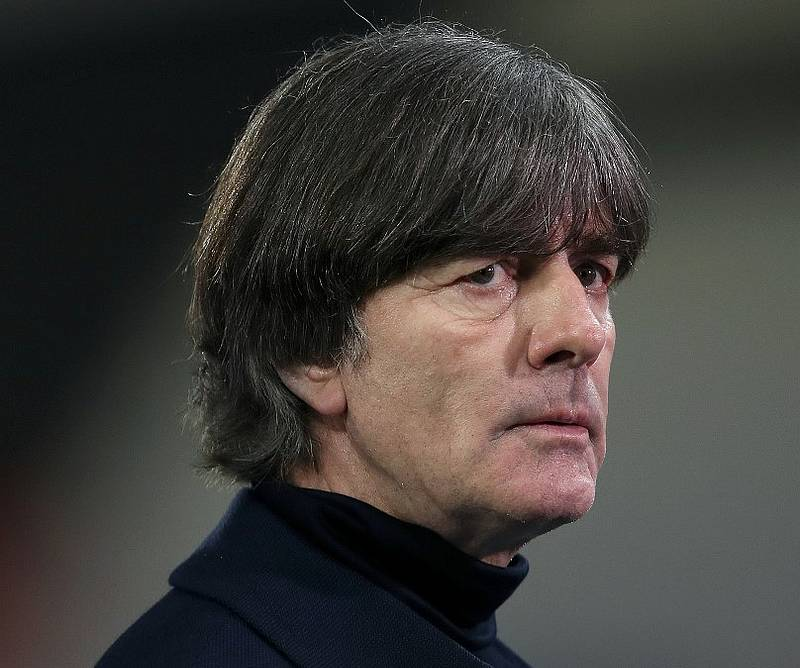 Germany's coach Joachim Loew after the Uefa Nations League football match with Ukraine at the Red Bull Arena stadium in Leipzig, Germany November 14, 2020. — AFP pic
