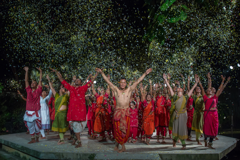 Dancers of Sutra Dance Theatre during Navaratri, 2018 at Sutra Amphi Theatre. — Picture courtesy of Sutra Foundation.