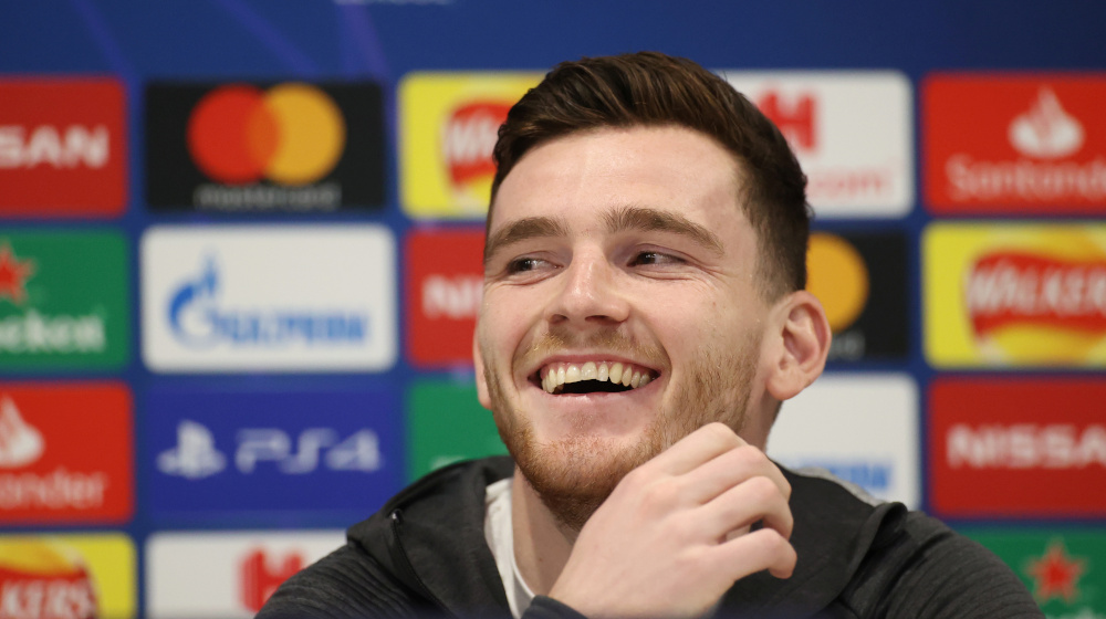 Liverpool's Andrew Robertson during the press conference at Anfield, Liverpool, Britain March 10, 2020. — Action Images pic via Reuters