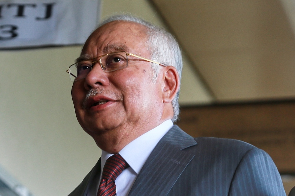 Datuk Seri Najib Razak said he is not in favour of the four-fold increase to Jasa's funds under Budget 2021 when the country is facing a health and economic crisis. — Picture by Ahmad Zamzahuri