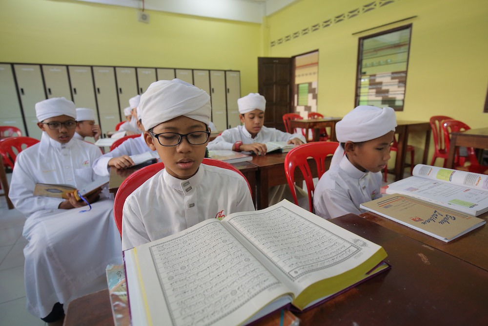 Maahad tahfiz and pondok schools in Pahang will be allowed to operate on the condition that the students do not leave their school grounds. — Picture by Marcus Pheong