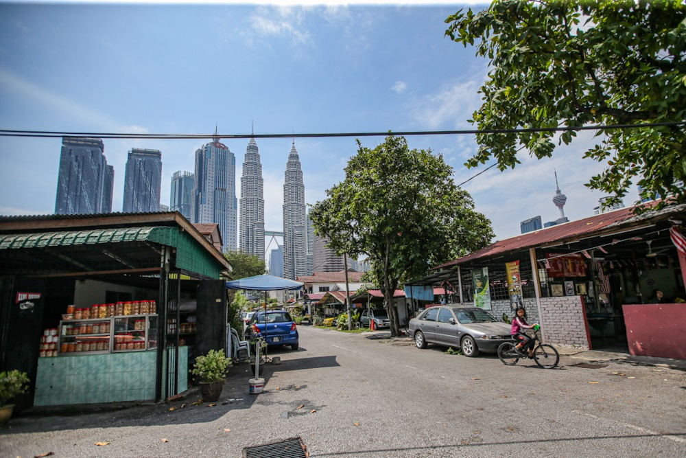 A general view of the Petronas Twin Towers from Kampung Baru. ― Picture by Hari Anggara