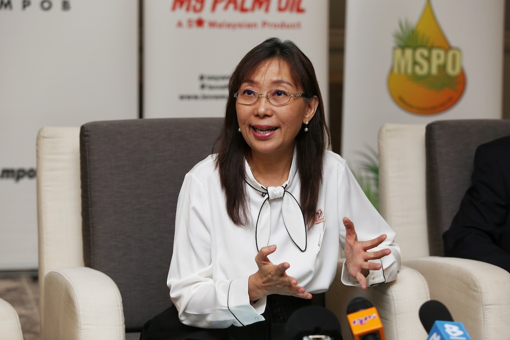 Teresa Kok said she was disappointed by the government's move to cut the allocation to address anti-palm oil campaigns abroad, leaving it with only RM20 million for next year compared to the RM27 million Pakatan Harapan (PH) had set aside in Budget 2020. — Picture by Choo Choy May