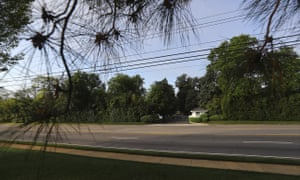 Washington Road was deserted in front of the main gate of Augusta National at Magnolia Road back in April, when the Masters was originally scheduled to take place.