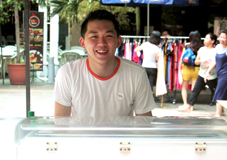 Forty Licks founder Cheam Tat Wei has been making small batch ice cream since 2012