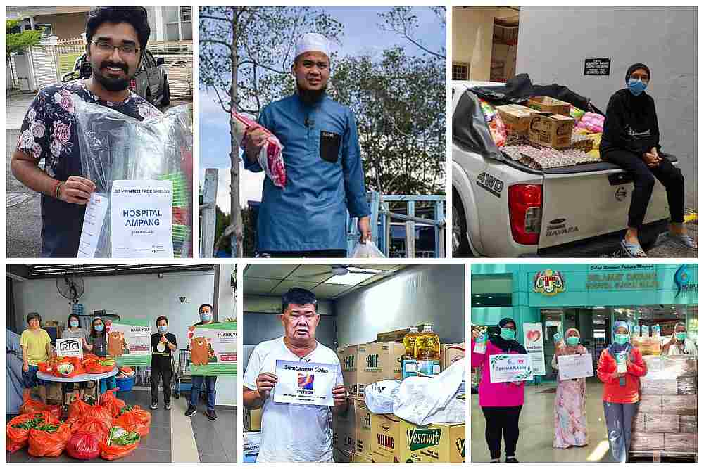 Kind-hearted Malaysians come together to help the underserved community during the tough times of 2020. — Malay Mail collage