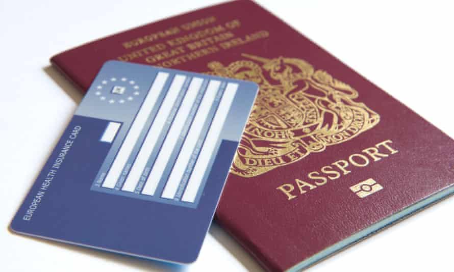 A British passport and Ehic card