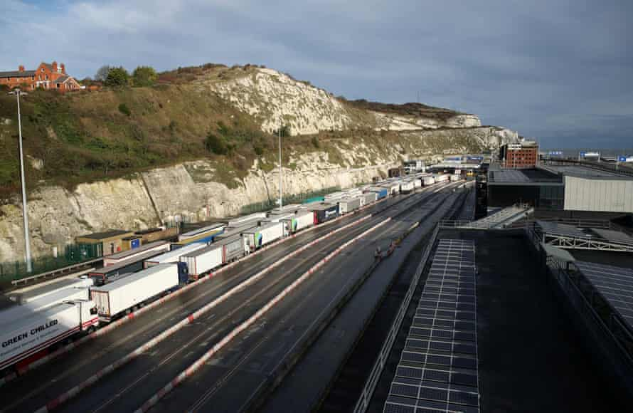 Congestion in Dover caused by last week's French travel ban.