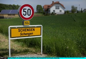 The village of Schengen, Luxembourg, where the 1985 European Schengen agreement was signed.