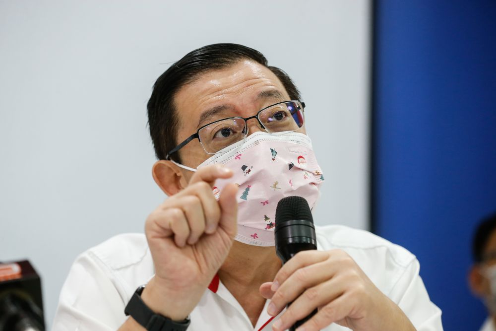 DAP's Lim Guan Eng says the deteriorating levels of press freedom in Malaysia will continue its downward trend if the country continues to be ruled by the Perikatan Nasional government. — Picture by Sayuti Zainudin
