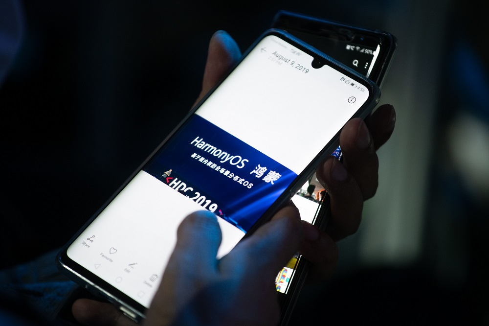 Huawei has been working on the development of its new operating system called HarmonyOS for nearly two years. — AFP pic
