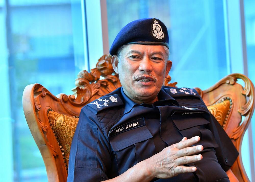 Bukit Aman Department of Internal Security and Public Order (JKDNKA) director Datuk Seri Abd Rahim Jaafar speaking in Kuantan, January 7, 2021. — Bernama pic
