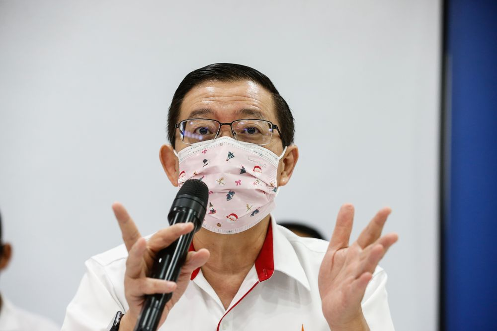 DAP secretary-general Lim Guan Eng said the Perikatan Nasional (PN) government was 'essentially blaming the people' for the rise in cases. — Picture by Sayuti Zainudin