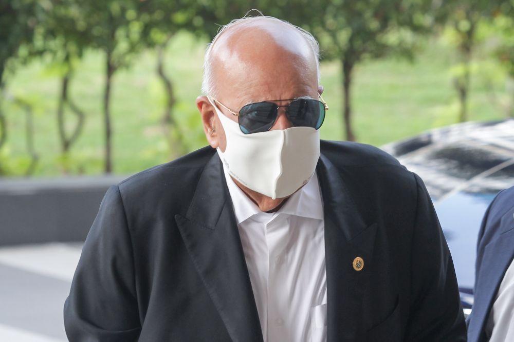 Datuk Seri Gopal Sri Ram arrives at the Kuala Lumpur High Court September 17, 2020. — Picture by Ahmad Zamzahuri
