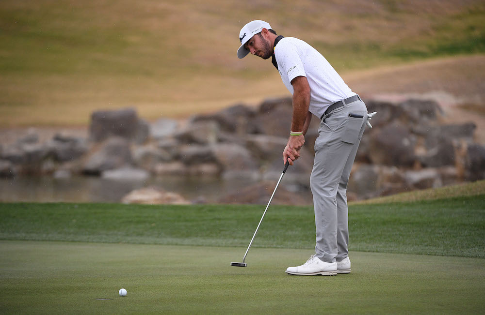 Max Homa putts on the 18th green during the third round of The American Express golf tournament at PGA West Peter Dye Stadium Course. — Orlando Ramirez-USA TODAY Sports pic