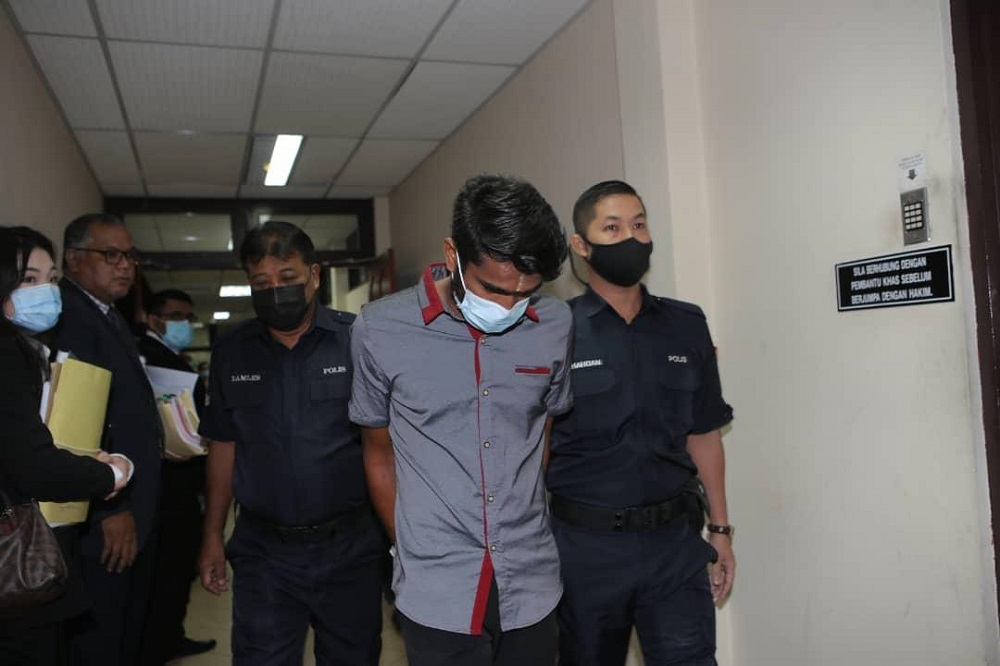 M. Vivegananta, 26, was fined RM3,000 at the Sessions Court in Ipoh January 5, 2021. — PIX BY JOHN BUNYAN