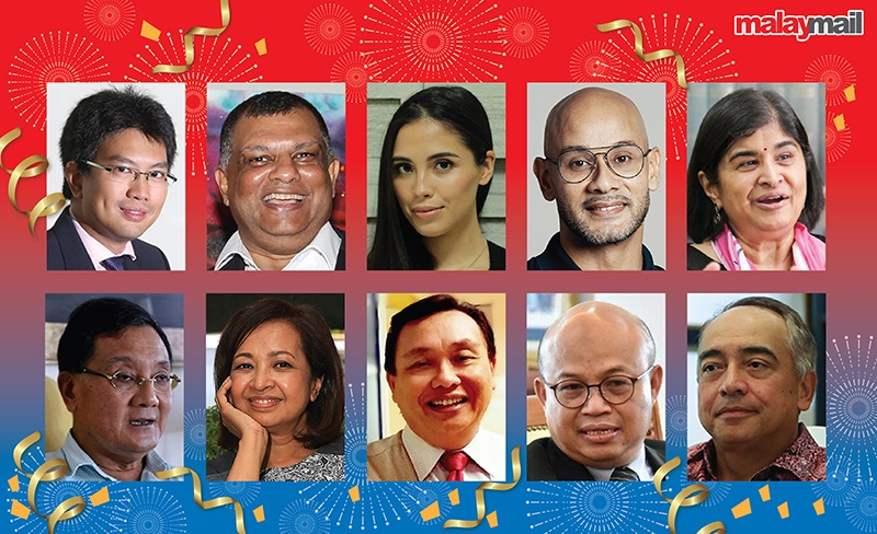 Some of Malaysia's prominent personalities wish for a better year in 2021. ― Picture by Azlan Shah Mohd Khalid