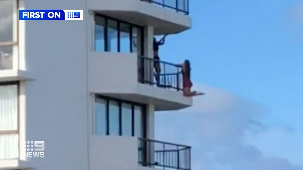 The daredevil act didn't go down well on social media. — Screengrab from Facebook/9News