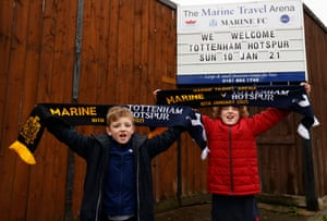 Local fans look forward to Sunday's FA Cup tie.