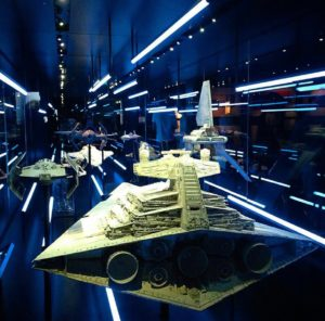 The Star Destroyer and other star ships. Photo: Star Wars Identities/Facebook