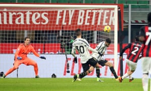 Milan's Davide Calabria puts the home side back on level terms.