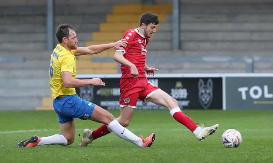 Crawley Town's Ashley Nadesan scores the winner in their first-round goalfest against Torquay United.