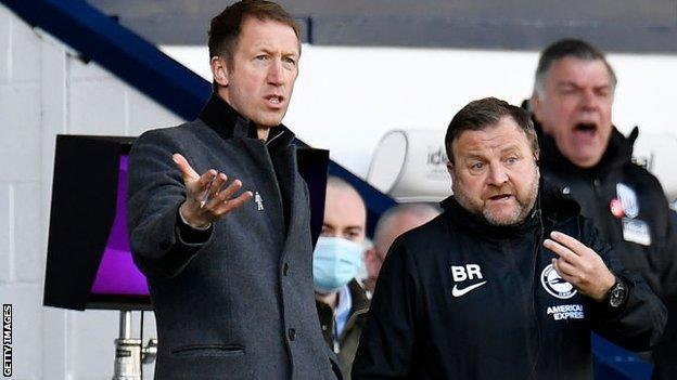 Graham Potter with his staff
