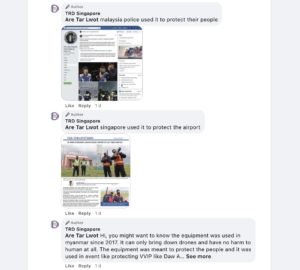 Screenshot of TRD Singapore's Facebook comments addressing criticism. Photo: TRD Singapore/Facebook