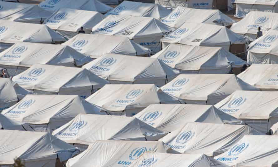 New refugee camp in Kara Tepe or Mavrovouni, Lesbos