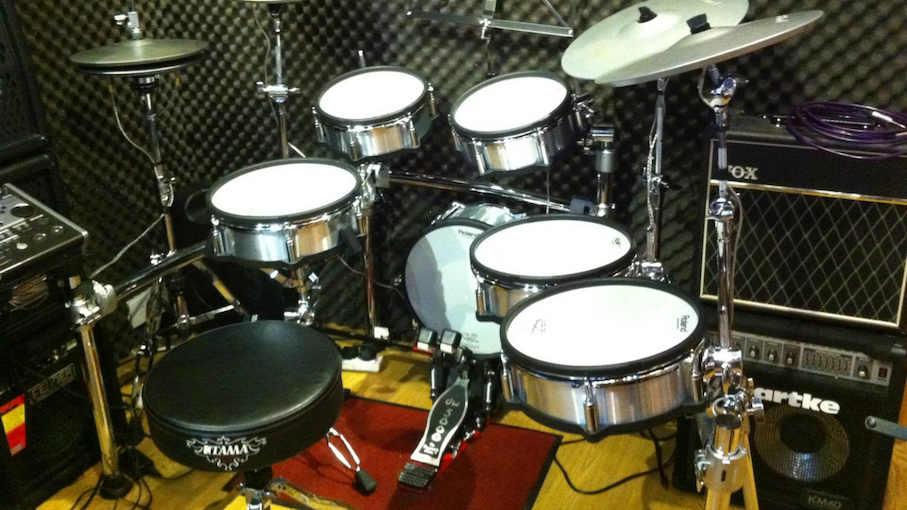 The drum set at Proceed's Kennedy Town studio. Photo: Facebook/Proceed Studio