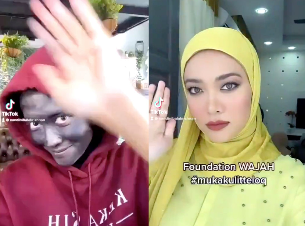 The video was removed from Syatilla's page shortly after negative comments began pouring in. — Screengrabs from TikTok/samtilla82