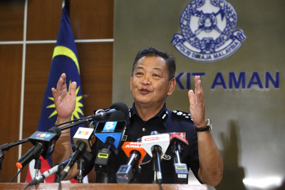 IGP Tan Sri Abdul Hamid Bador said he was aware of a poll on social media calling for him to remain as IGP for his action against organised crime and cartels in the country. — Picture by Choo Choy May