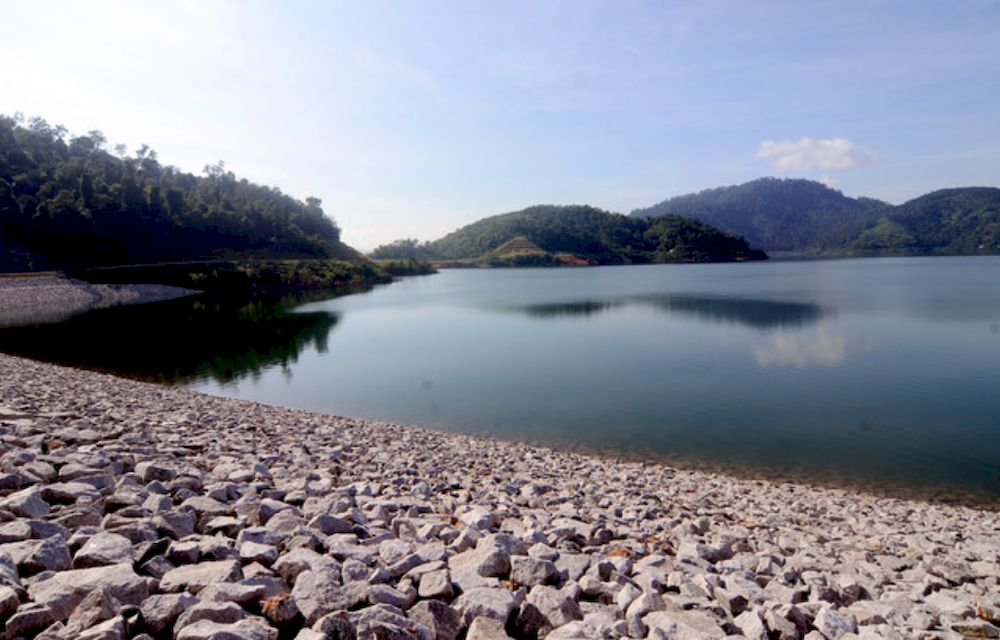 File picture of February 16, 2020 shows Mengkuang Dam located in Seberang Perai Tengah district. Penang Water Supply Corporation (PBAPP) chief executive officer Datuk Jaseni Maidinsa said the Seberang Perai Tengah Health Office issued an order under the Prevention and Control of Contagious Diseases Act 1988. — Bernama pic