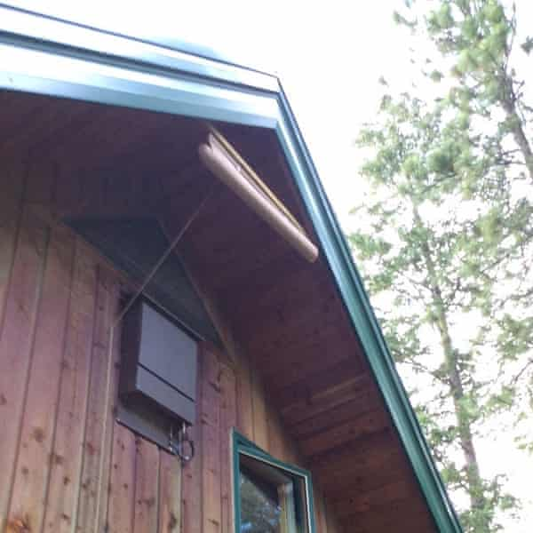 An awning has been installed to protect bats from the heat at Steve Latour's house in Kootenay, British Columbia.