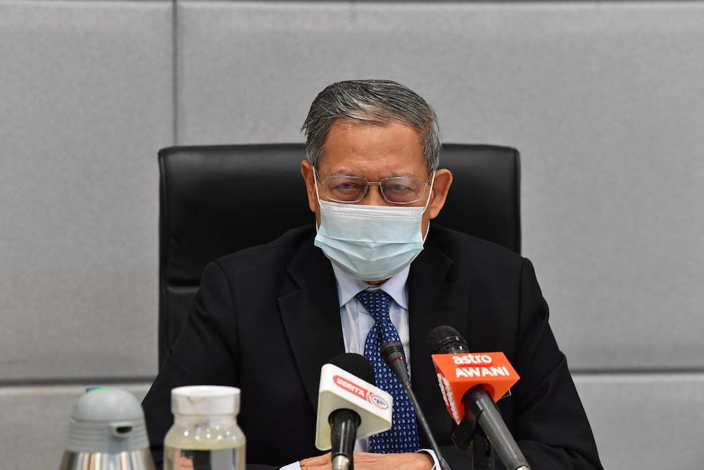 Datuk Seri Mustapa Mohamed attends a session on 'MyDigital – Blueprint Ekonomi Digital Malaysia', February 15, 2021. — Bernama pic