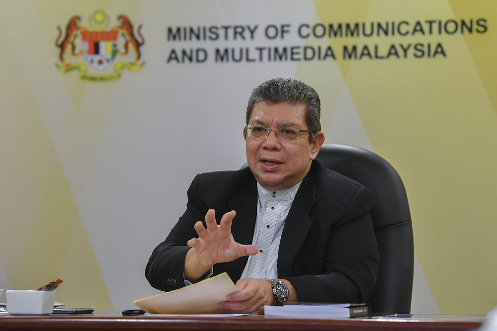 On Internet connectivity, Datuk Saifuddin Abdullah said talks with the companies did not touch specifically on the cabotage policy but he informed them that the government took a serious view of the matters raised by them regarding the policy. — Bernama pic