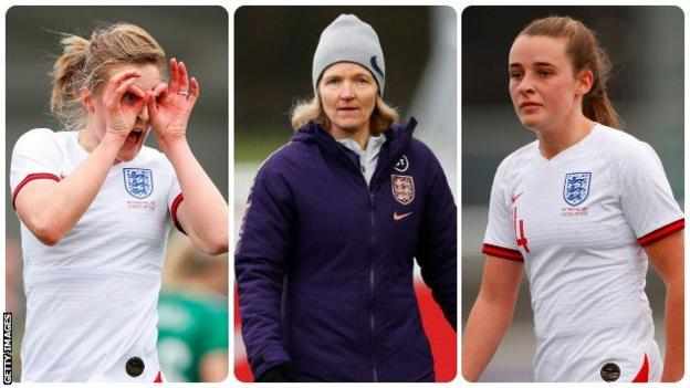Ellen White, Hege Riise and Ella Toone