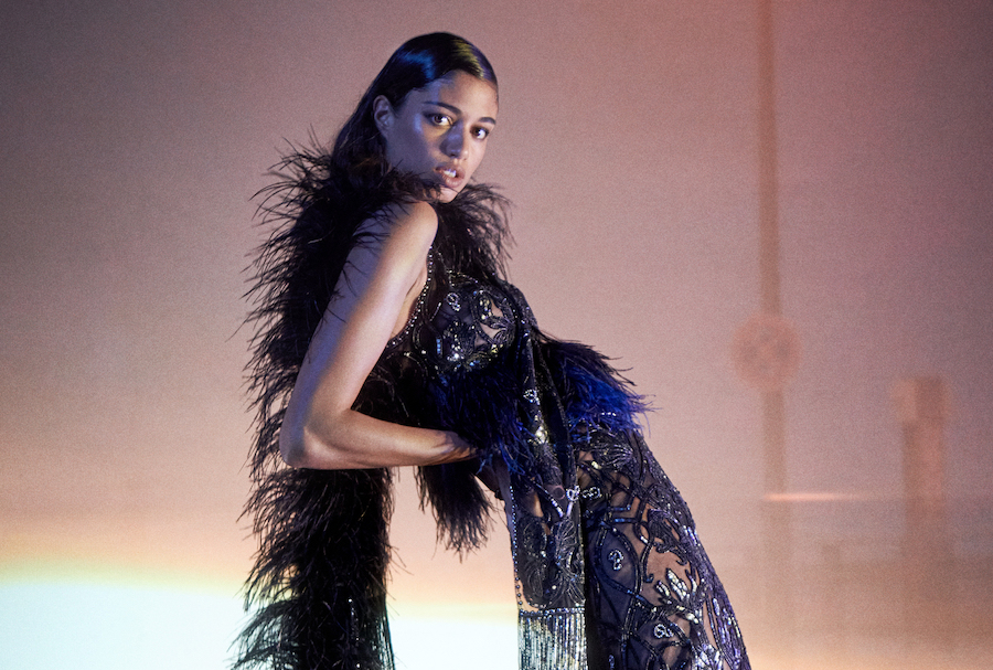 The model posed for Norwegian designer Peter Dundas's latest collection. Supplied