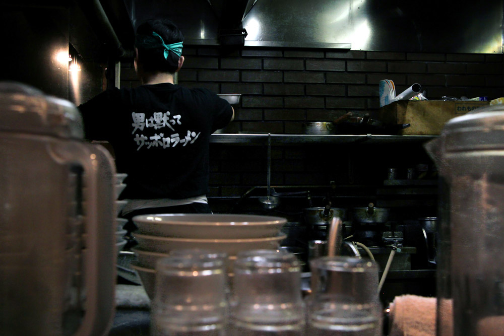 Plenty happens before a ramen shop is open from kitchen work to preparing the condiments.